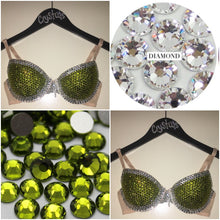 "Olive Green & Crystal Diamonds ""Casino"" T-Shirt Style Two"
