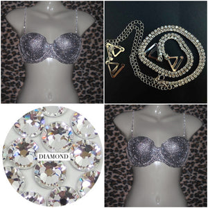 "Luxury Crystal Diamonds ""Heiress""  Strapless Style"