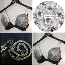 "Crystal Diamonds ""Hustler"" Plunge V Style With Bling Straps"