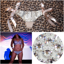 crystal thong diamond thong burlesque costume