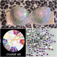 "AB Crystal Diamond ""Bombshell""Strapless Style"