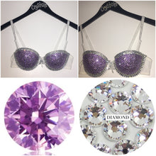 "Crystal & Violet Purple Diamonds ""Casino"" Strapless Style Two"