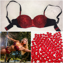 "Light Siam Red Diamonds ""Empress"" Bralet Strapless Style"