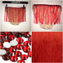 "Red Fringe & Siam Red Crystal ""Rodeo"" Mini Style"
