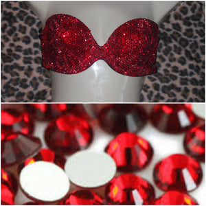 "Siam Red Luxury Diamonds ""Bombshell"" Bralet Strapless Style"