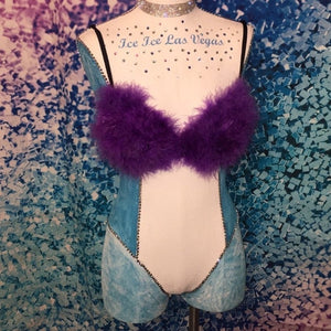 """SALE"" 34B Purple ""Whipped"" Feathers T-Shirt Style"