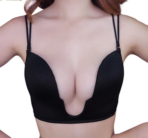 Sexy V Shaped Padded Plunge Bra