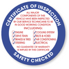 INSPECTION STICKERS - NEW!