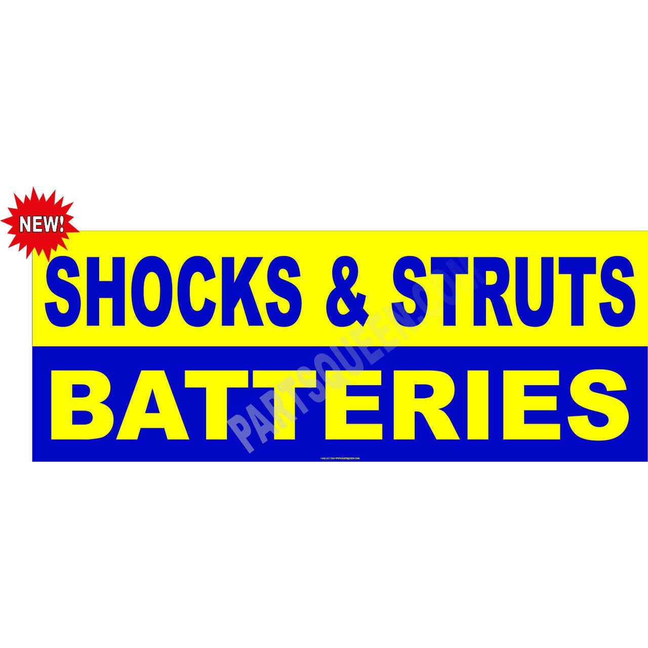 SHOCKS STRUTS BATTERIES BANNER AB208