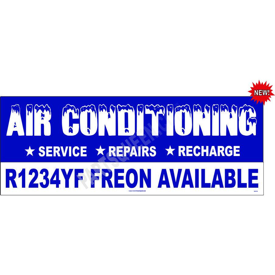 AB-216 A/C BANNER WITH R1234YF FREON NOW AVAILABLE