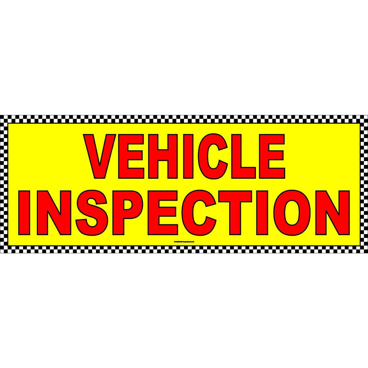 VEHICLE INSPECTION BANNER AB703CHK