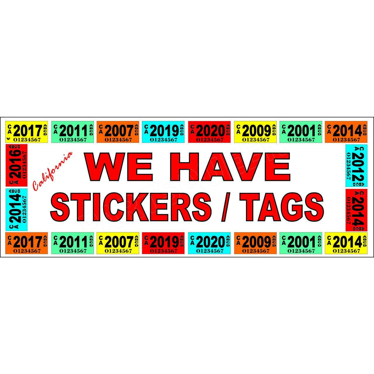 REGISTRATION TAGS BANNER AB704