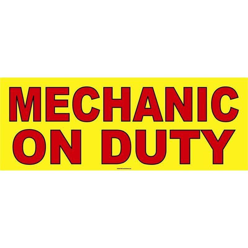 MECHANIC ON DUTY BANNER #AB16