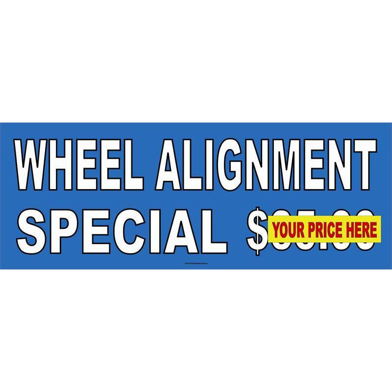 WHEEL ALIGNMENT $ BANNER #AB48