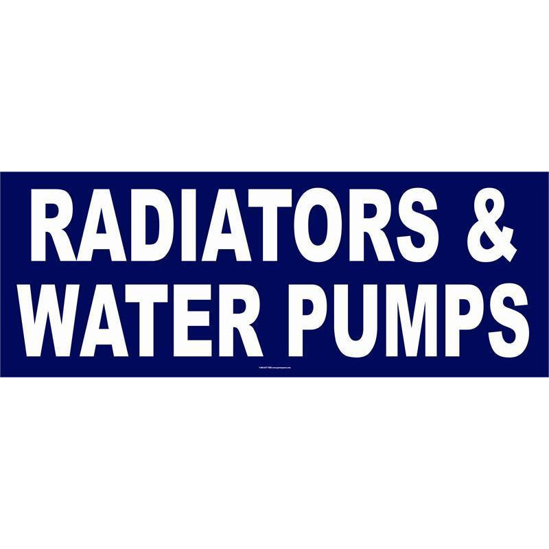 RADIATOR / WATER PUMPS BANNER #AB57