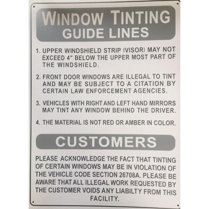 WINDOW TINTING SIGN  AP32