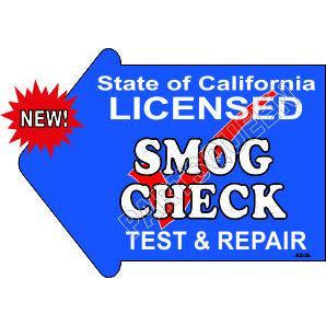 Stake Sign Kit Smog Check Left Arrow