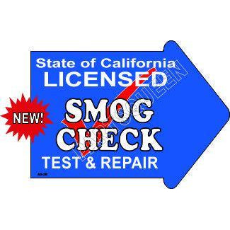 Stake Sign Kit Smog Check Right Arrow