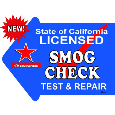 Stake Sign Kit Star Smog  Left Arrow AS5L