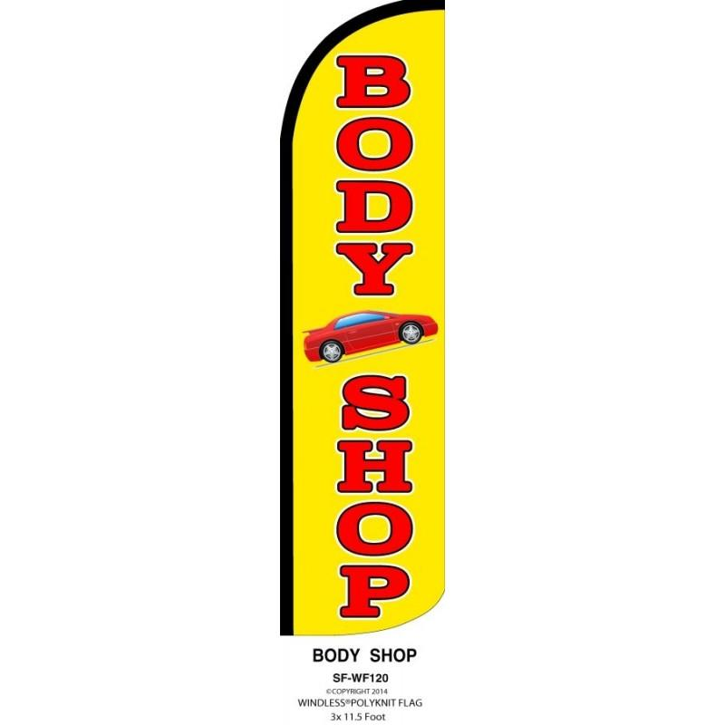 BODY SHOP WINDLESS SWOOPER FLAG # W-SF-WF-120