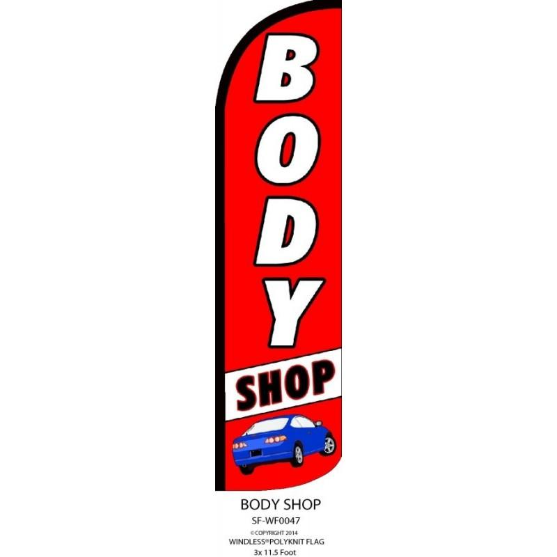 BODY SHOP WINDLESS SWOOPER FLAG # W-SF-WF-0047