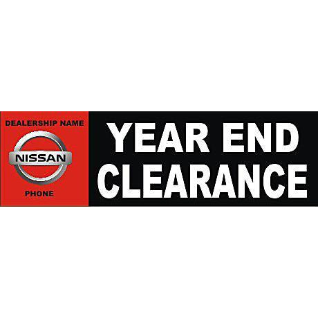 YEAR END CLEARANCE BANNER #DB01