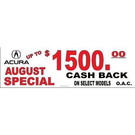 $1500.00 CASH BACK BANNER #DB03