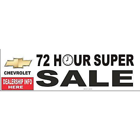 CHEVROLET 72 HOUR BANNER #DB07
