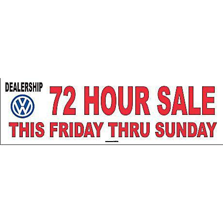 VW 72 HOUR SALE BANNER #DB32