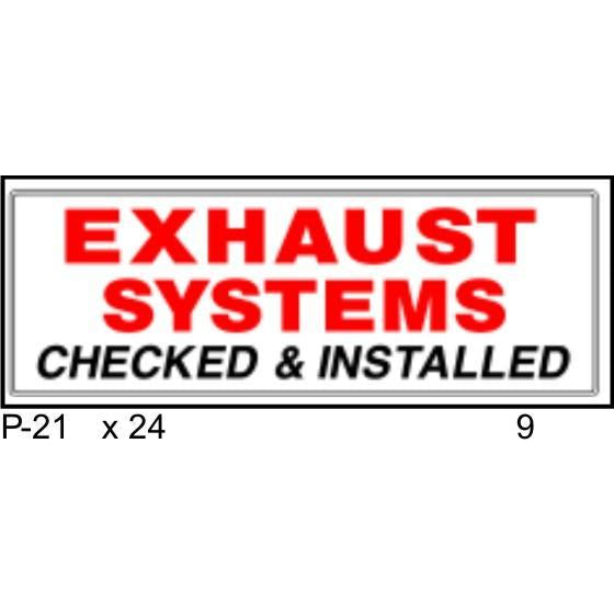 Exhaust Systems P21