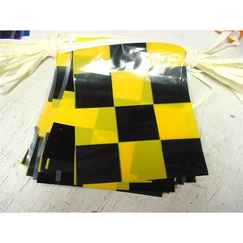 Checkered Pennants, Black & Yellow