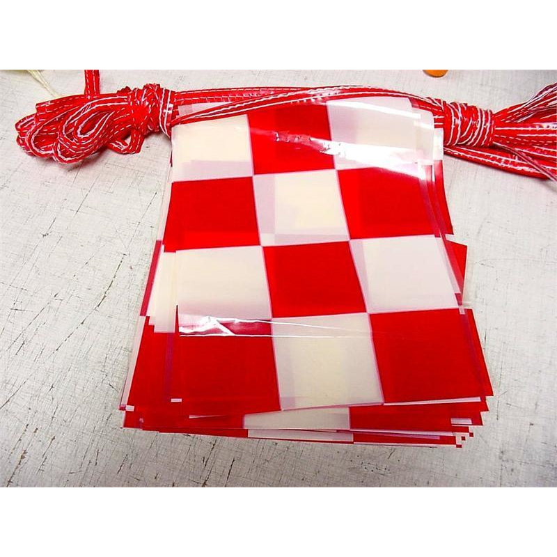 Checkered Pennants, Red & White