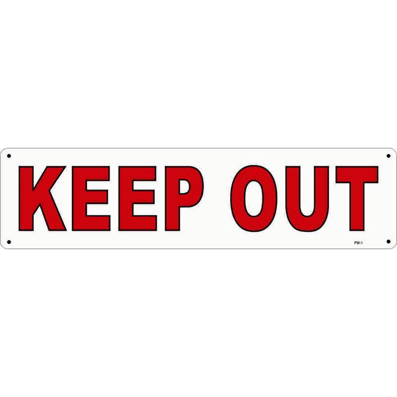KEEP OUT SIGN #PM1