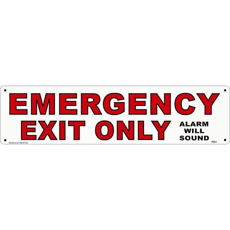 PANEL SIGN EMERGENCY EXIT #PM3