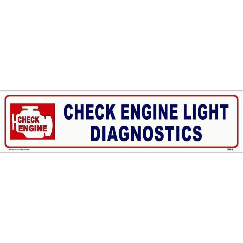 PANEL SIGN CHECK ENGINE #PM-5