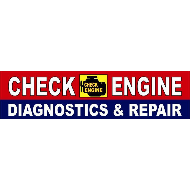 PANEL SIGN CHECK ENGINE #PM-8