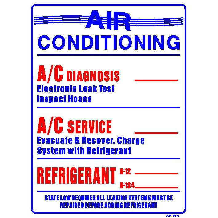 AIR CONDITIONING RATES  #AP104
