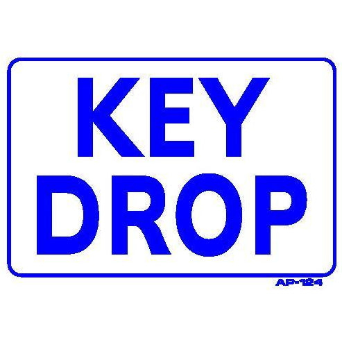 KEY DROP SIGN  #AP124