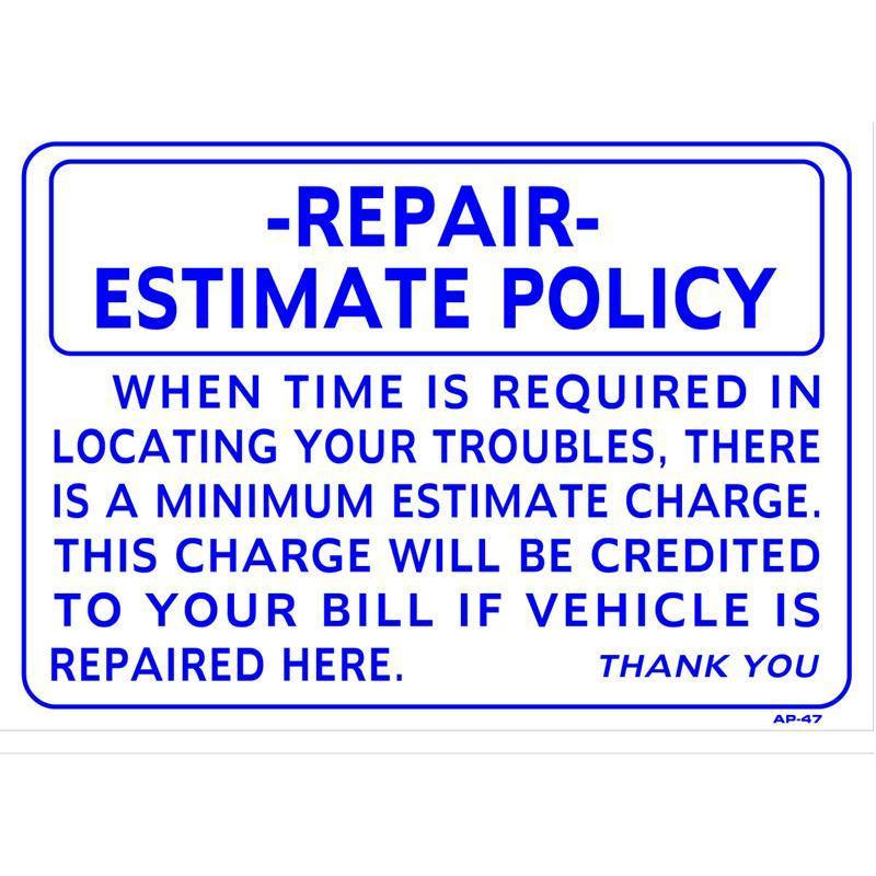 REPAIR ESTIMATE #AP47