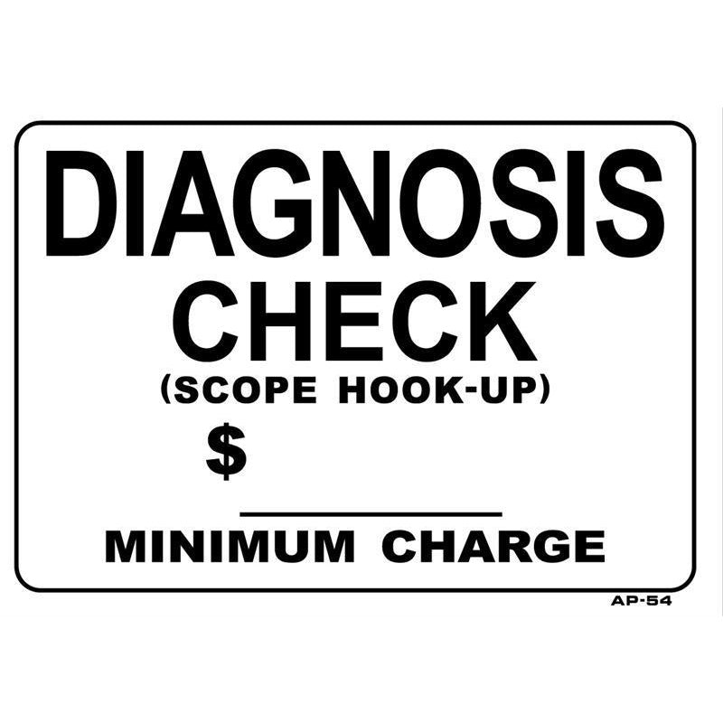 DIAGNOSIS $  SIGN #AP54