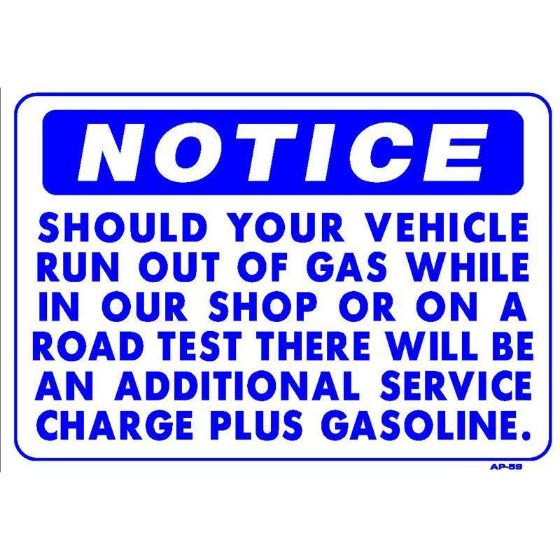 ROAD TEST GAS SIGN #AP59