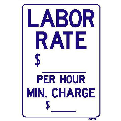 LABOR RATE $  #AP6