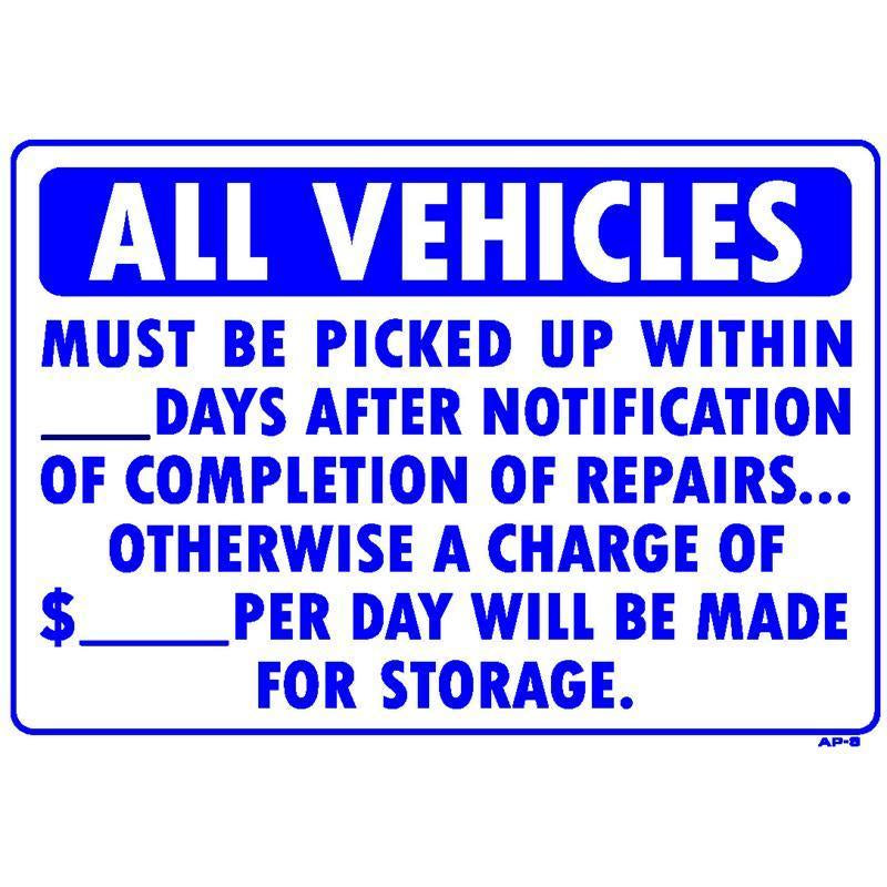 STORAGE CHARGE SIGN #AP8