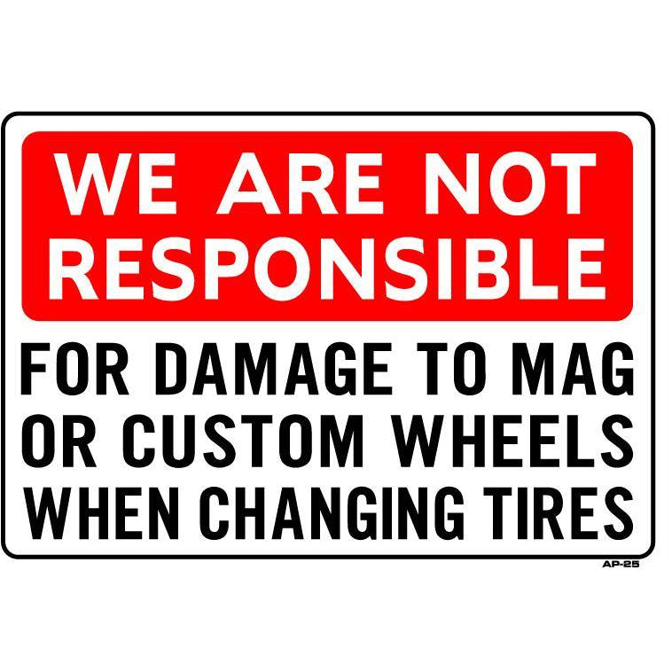 WHEEL DAMAGE SIGN #AP-25