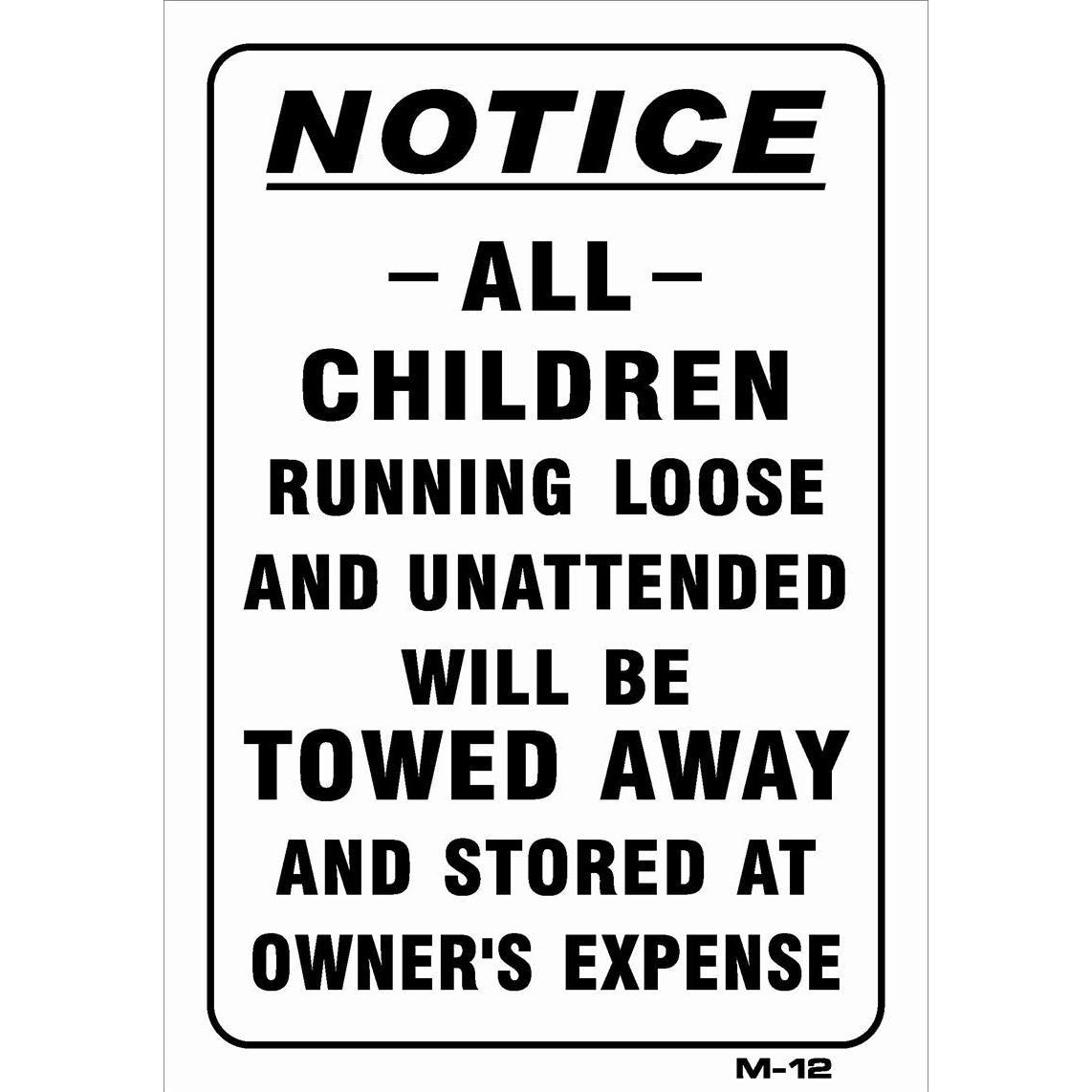 All Children Joke Sign