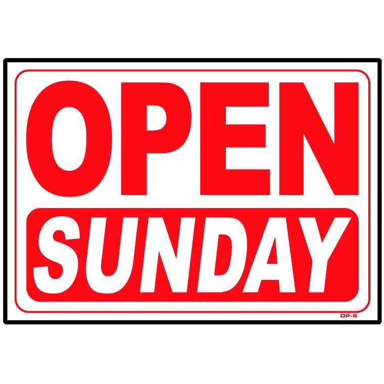 OPEN SUNDAY SIGN #OP5