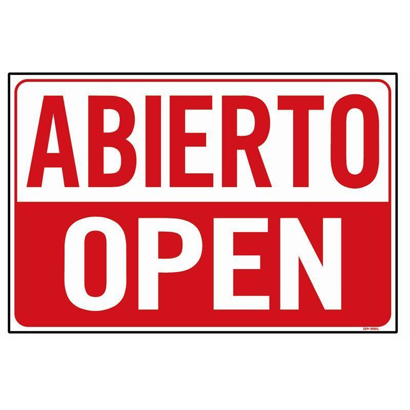 ABIERTO / OPEN SIGN #OP4