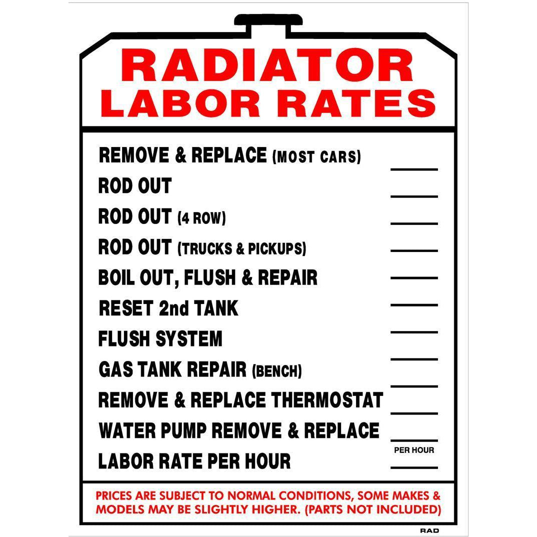 RADIATOR LABOR RATE #RAD4
