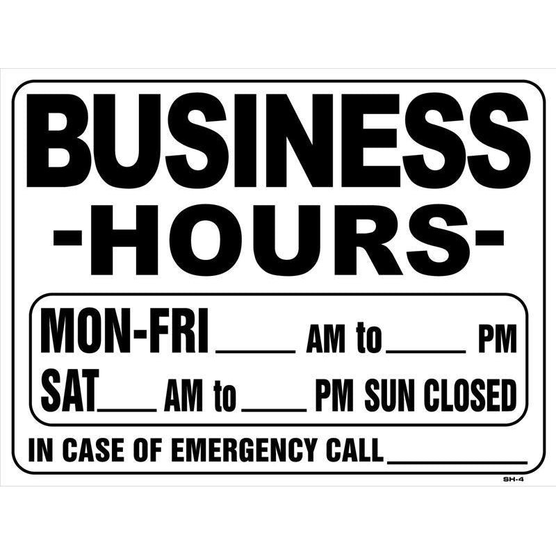 BUSINESS HOURS #SH-4