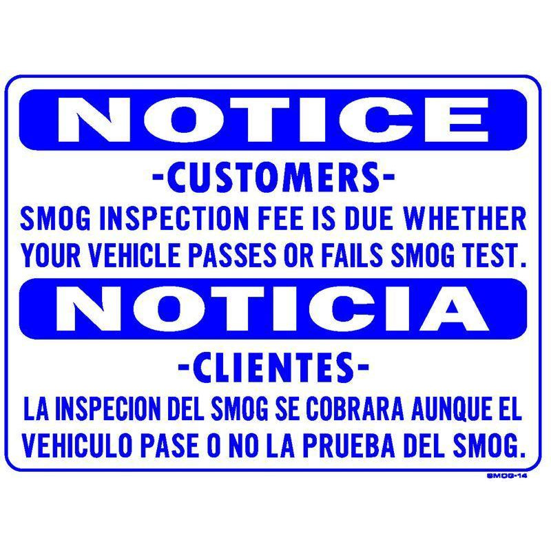 SMOG FEE DUE SIGN #SMOG14